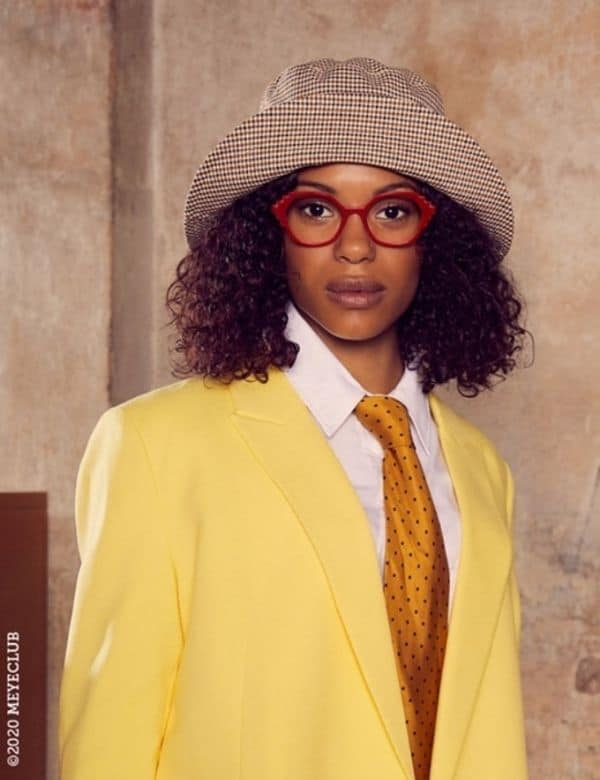 Eye Candy Opticians Lady in Mulberry Glasses