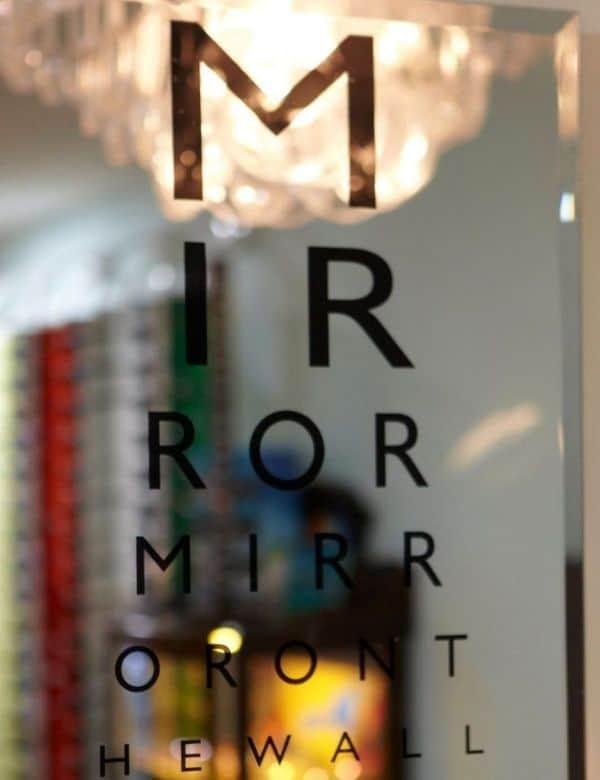 Eye Candy Opticians Mirror