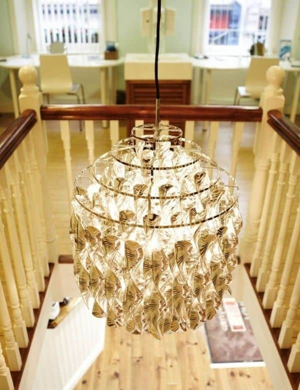 Eye Candy Opticians Clinic Interior Chandelier