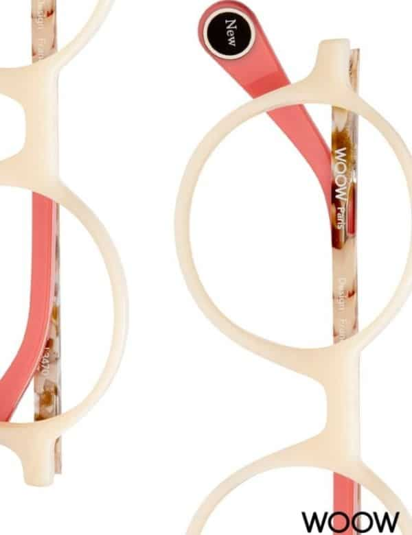 Eye Candy Opticians Designer Glasses Woow Pink and Cream