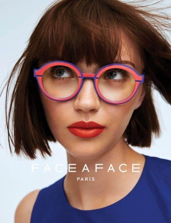 Eye Candy Opticians Face a Face Designer Glasses on Lady